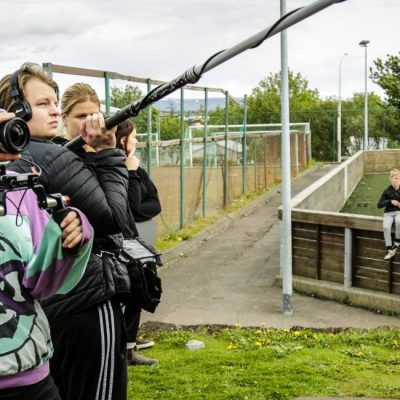 dbs students filmmaking in Iceland