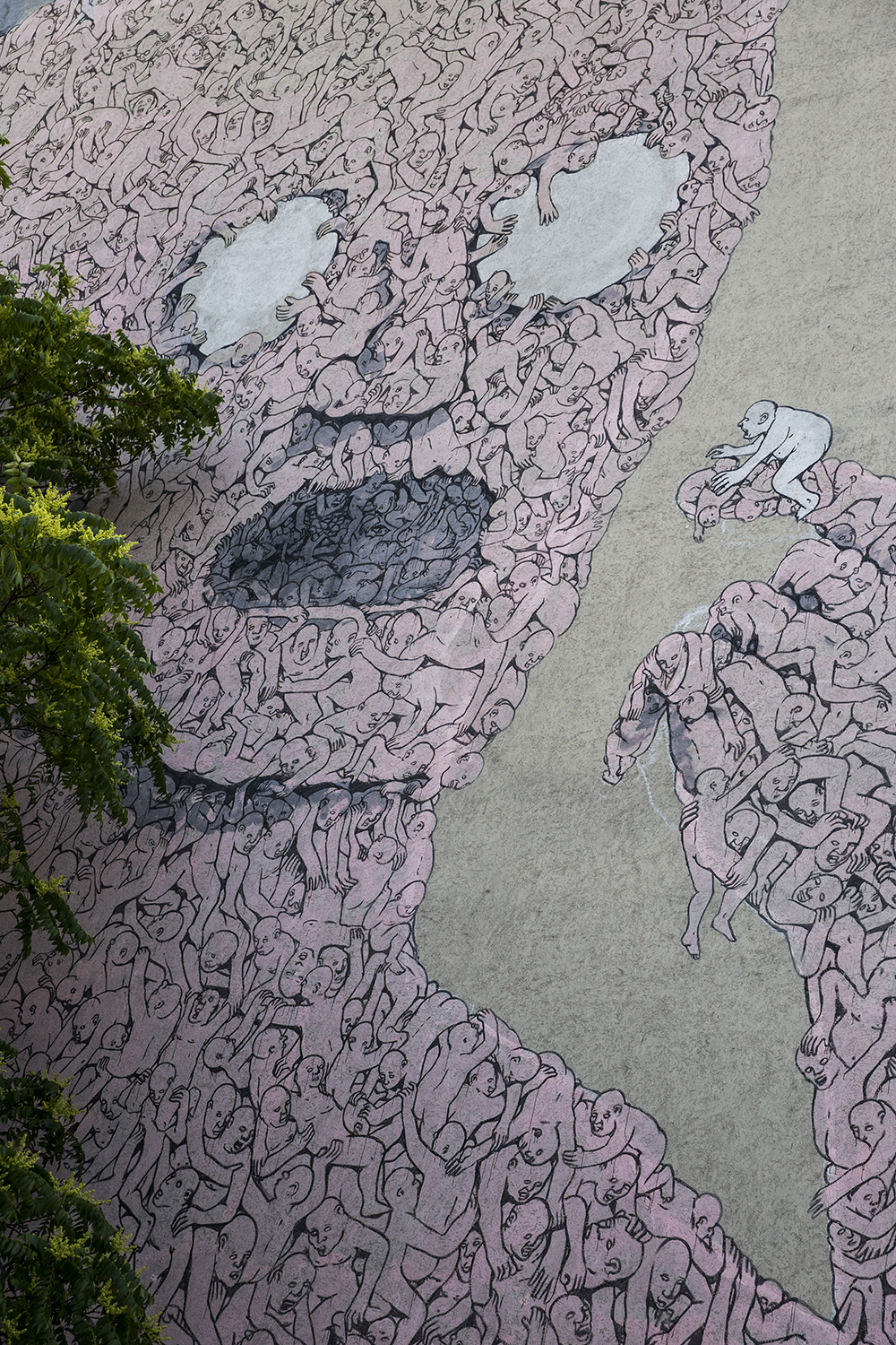 Berlinspiration: The Ultimate Guide to Our Students' Top 5 Berlin Areas   Pink Man BLU Kreuzberg by Dominic Blewett